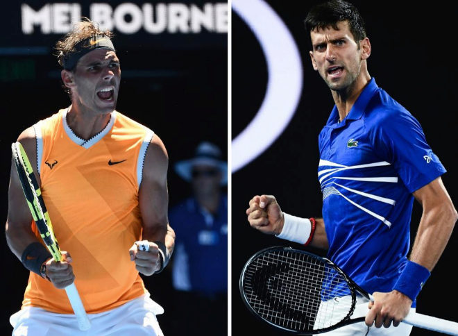 Rafael Nadal y Novak Djokovic juegan este domingo la final del Open de...
