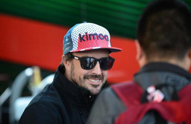 Fernando Alonso antes de las 24 horas de Daytona