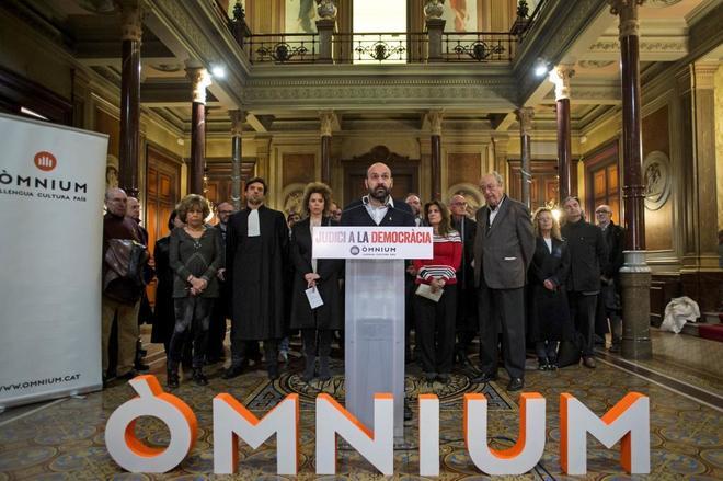Marcel Mauri, vicepresidente de Òmnium Cultural, durante un acto la...