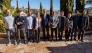 Los secretarios autonómicos de Podemos posan al inicio de su reunión...