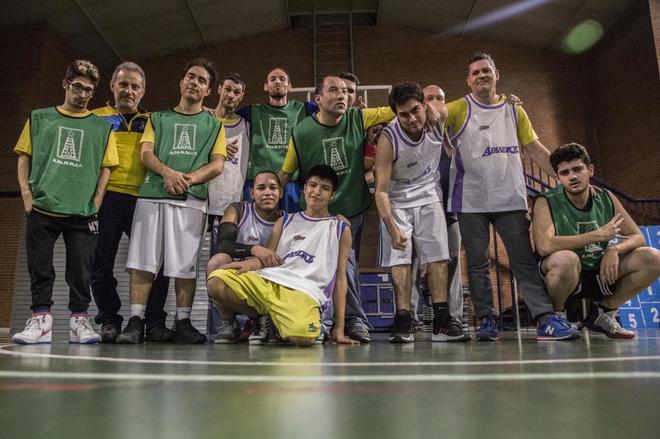 El equipo de baloncesto de personas con discapacidad Afandice, durante un entrenamiento.