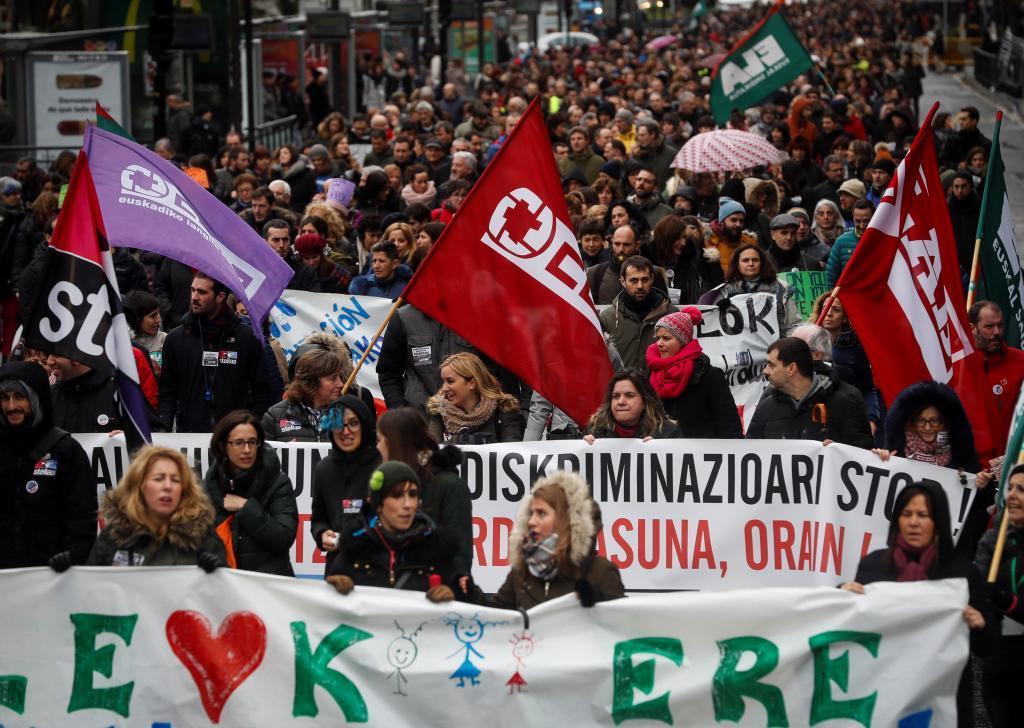 Manifestación celebrada hoy de la concertada.