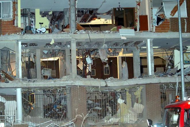 Edificio de Leganés donde se produjo en abril de 2004 la explosión...