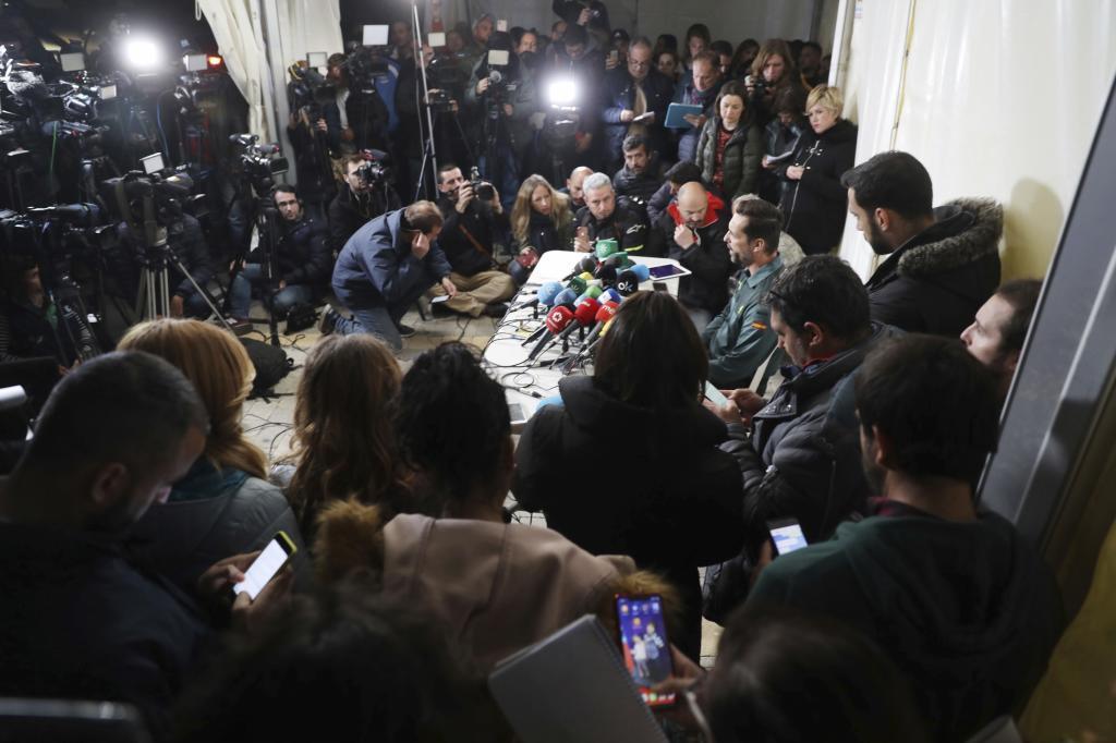 Rueda de prensa de la Guardia Civil durante la búsqueda de Julen.