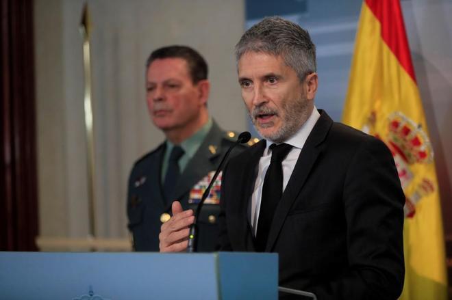 El ministro del Interior, Fernando Grande-Marlaska, explica el rescate de Julen