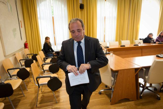 Juan Francisco Cerrato, durante uno de los juicios del 'caso FEVAL'.