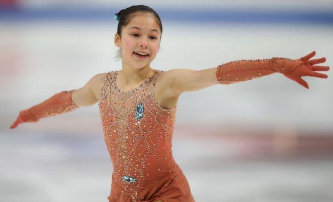 Liu, durante su programa corto del jueves en Detroit.