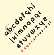 Futura, la tipografía de palo seco y dibujo geométrico que diseñó Paul Renner.