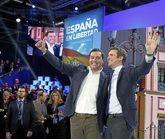 Los presidentes del PP y la Junta de Andalucía, Pablo Casado y Juanma...