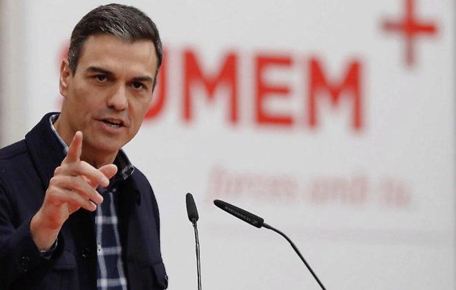 El presidente del Gobierno, Pedro Sánchez, en un acto del PSOE en Valencia.