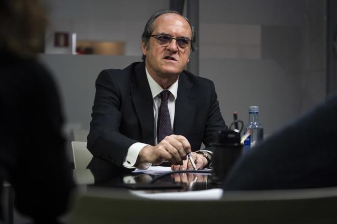 Ángel Gabilondo, durante la entrevista con EL MUNDO.