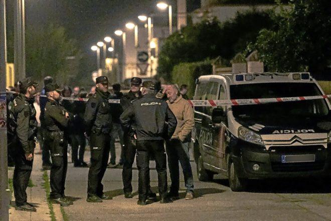 Agentes de la Policía Nacional, en Dos Hermanas, donde un hombre ha asesinado a una mujer