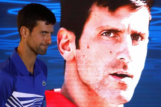 Novak Djokovic, al terminar la final, este domingo en Melbourne.