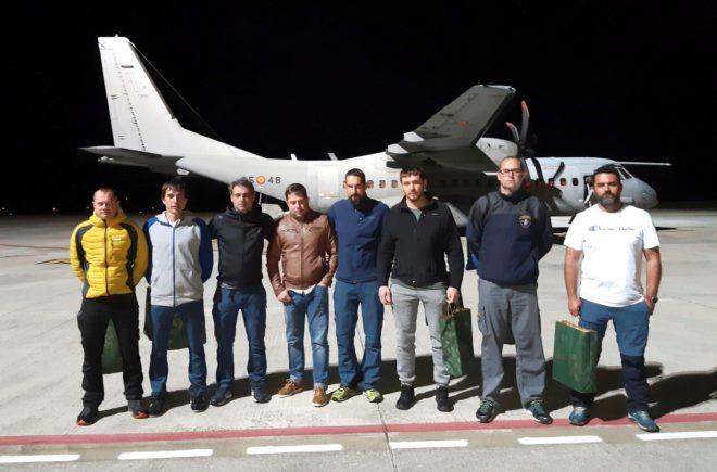 La Brigada de Salvamento Minero desplazada a Totalán, de vuelta en Asturias.