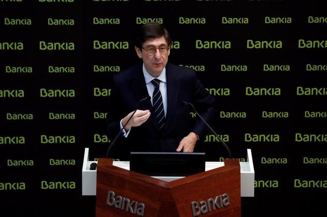 El presidente de Bankia, José Ignacio Goirigolzarri, durante la presentación de resultados del grupo.