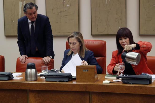 La presidenta del Congreso, Ana Pastor, y la vicepresidenta segunda,...