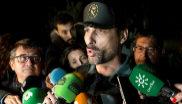 El portavoz de la Guardia Civil en Málaga, Jorge Martín, atiende a...