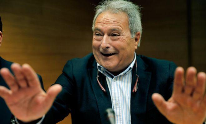 El ex presidente de la Diputación de Valencia, Alfonso Rus, en las Cortes.