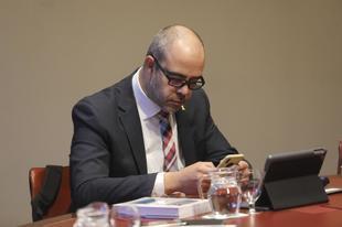 El conseller Miquel Buch en la reunión del Govern en el Palau de...