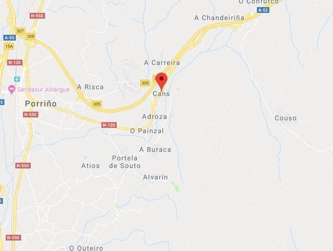 La parroquia de Cans, perteneciente a la localidad de Porriño...