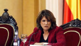 La ministra de Justicia, Dolores Delgado, el pasado día 24 en un acto...