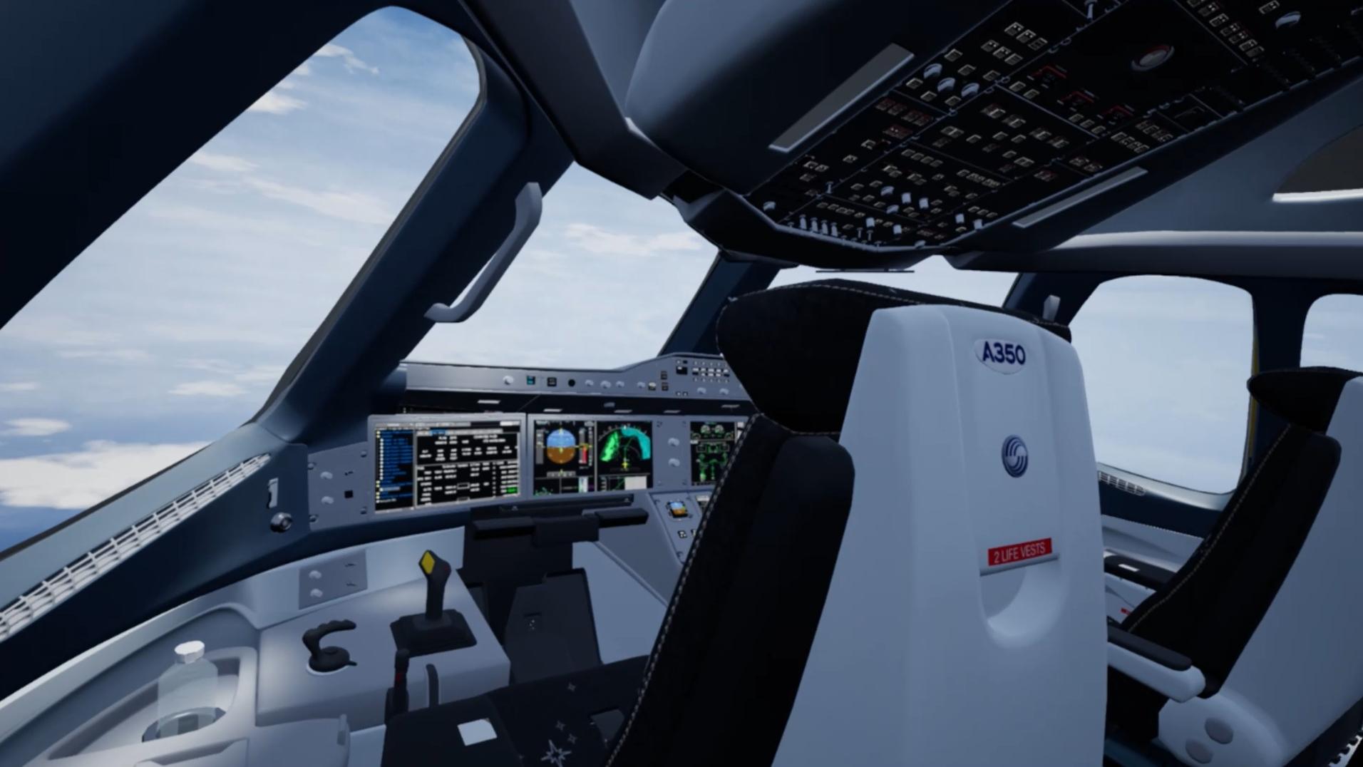 Visión 360 al elegir sitio en el avión, RV para entrenar a sus tripulantes