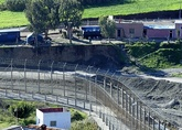 Trabajo en la construcción de fosos en suelo marroquí en las...