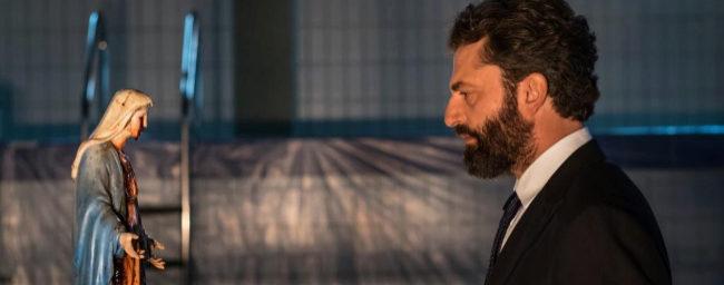 Guido Caprino, en el papel del primer ministro italiano Fabrizio...