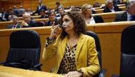 La ministra de Hacienda, María Jesús Montero, en en el Congreso de los Diputados.