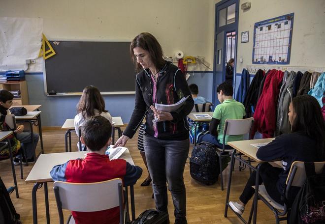 Un aula de sexto de Primaria.
