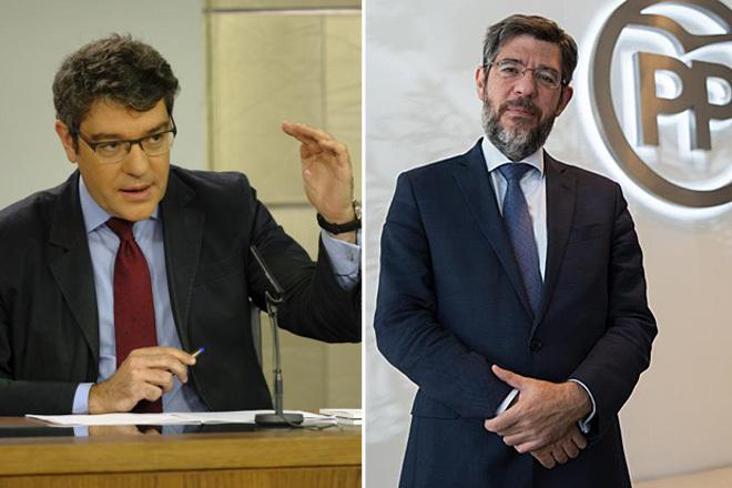 Álvaro (izqda.) y Alberto Nadal, en sus respectivas etapas como ministro de Industria y secretario de Economía del PP.