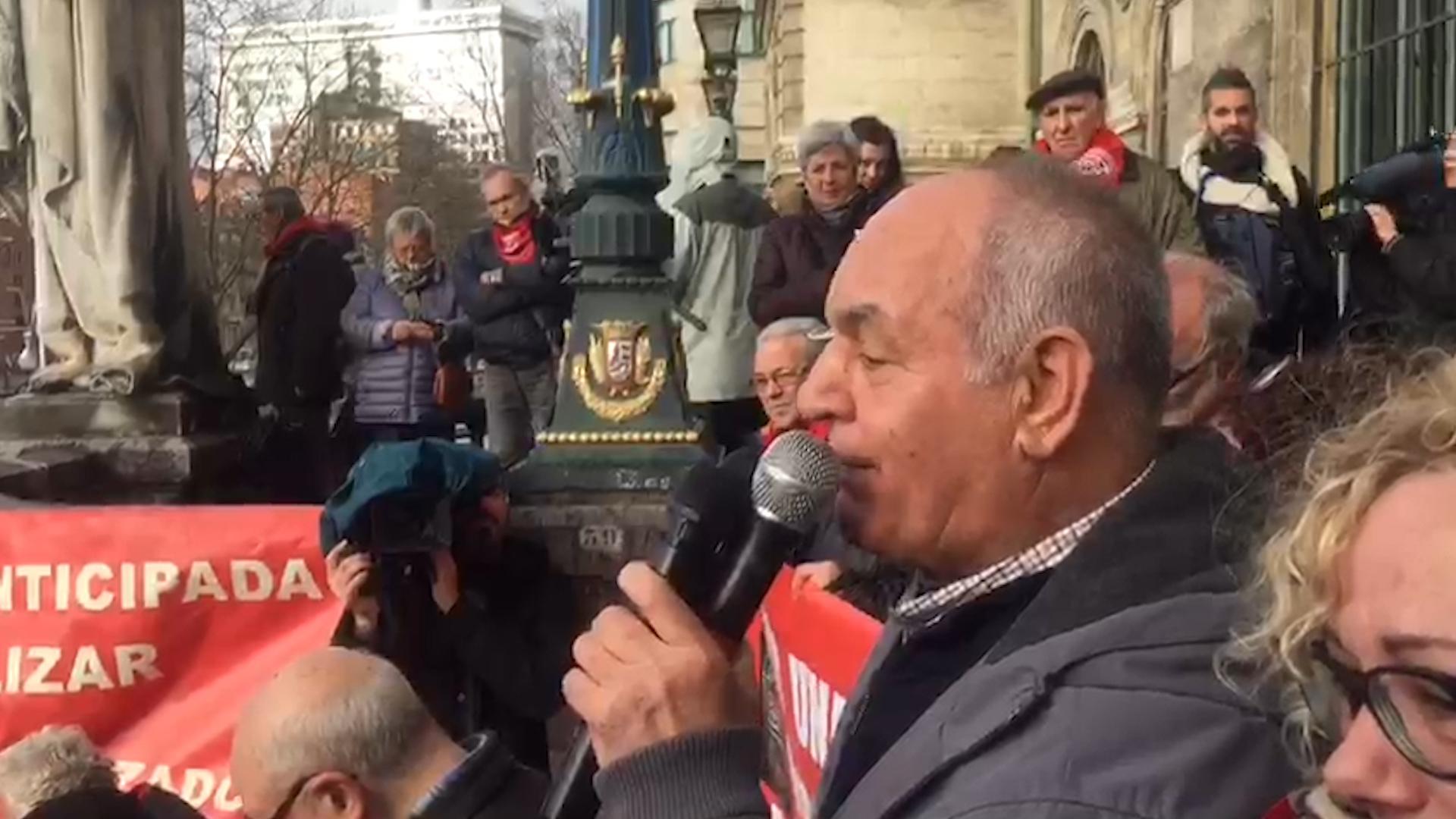 """El líder de los jubilados vascos se aparta: """"Se acabó, no podemos hacerle la campaña electoral  a nadie"""""""