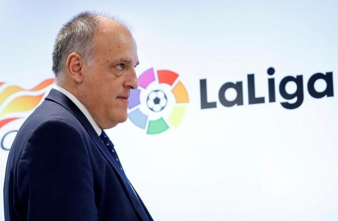 Javier Tebas, presidente de LaLiga, en una imagen de este mes.