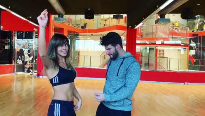 Lara Álvarez y Dani Miralles, durante una de sus coreografías.