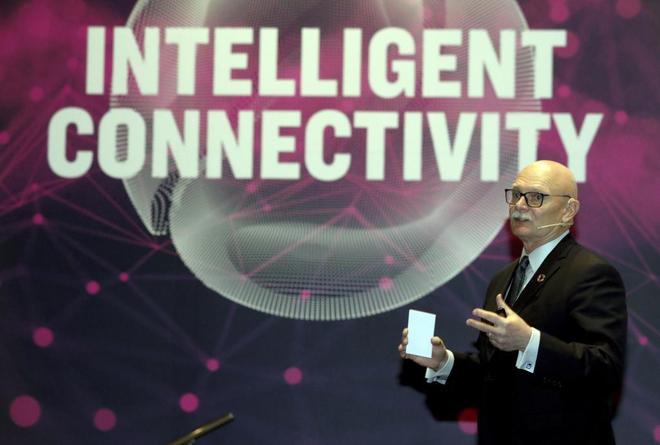 John Hoffman, Director del MWC, en la presentación del MWC 2019 de Barcelona