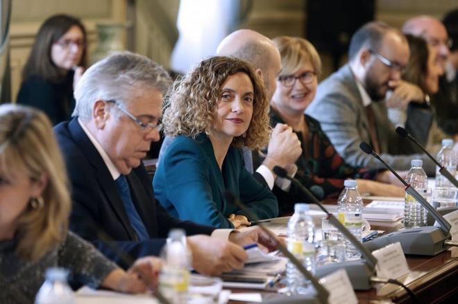 La ministra de Política Territorial, Meritxell Batet, en la reunión...