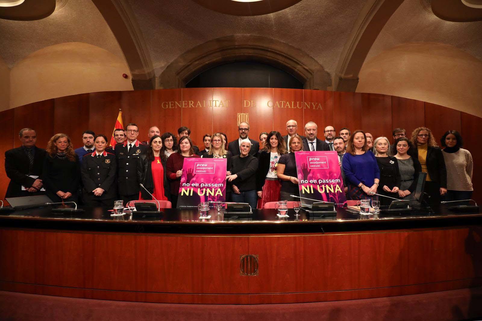 Imagen del acto celebrado en la Generalitat