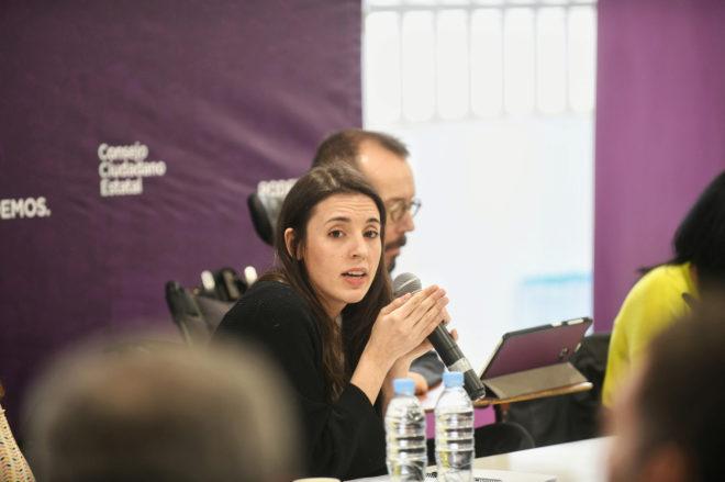 La portavoz de Podemos, Irene Montero, interviene en el Consejo Ciudadanos Estatal del partido