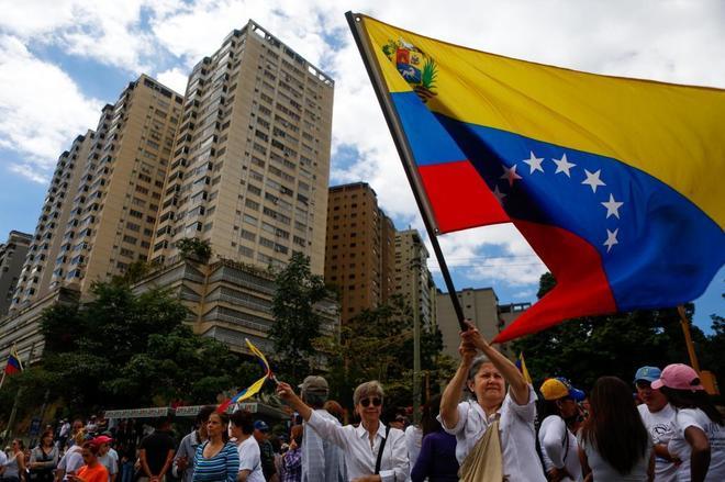 Manifestación contra Nicolás Maduro, en Caracas.