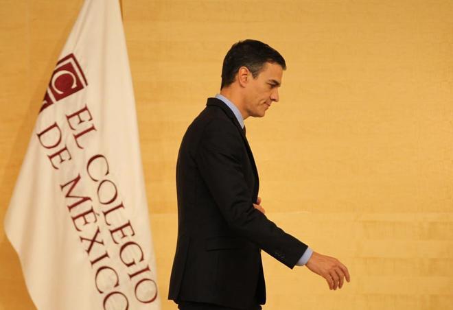 El presidente del Gobierno español, Pedro Sánchez, ayer en un acto en México.