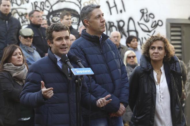 Pablo Casado, presidente de PP, y Xavier Garcia Albiol en Badalona