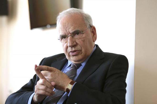 El ex vicepresidente del Gobierno Alfonso Guerra, durante una...