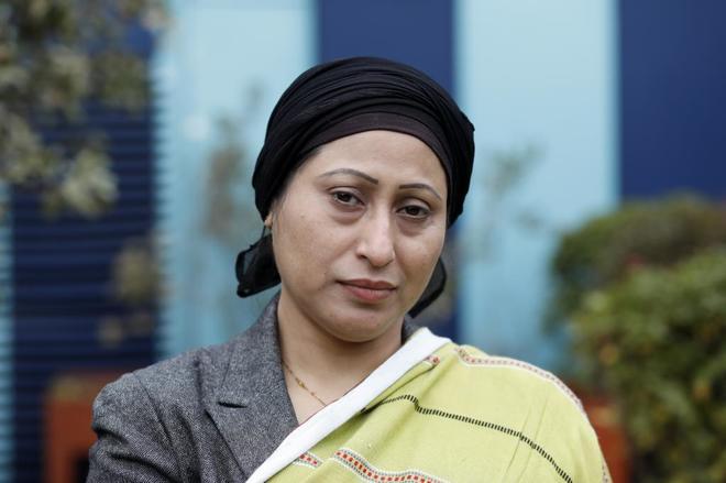 Razia Sultana, activista rohinya, en la Casa Encendida de Madrid.