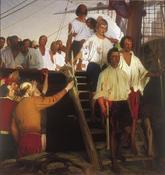 'El regreso a Sevilla de Juan Sebastián Elcano', cuadro de Elías...
