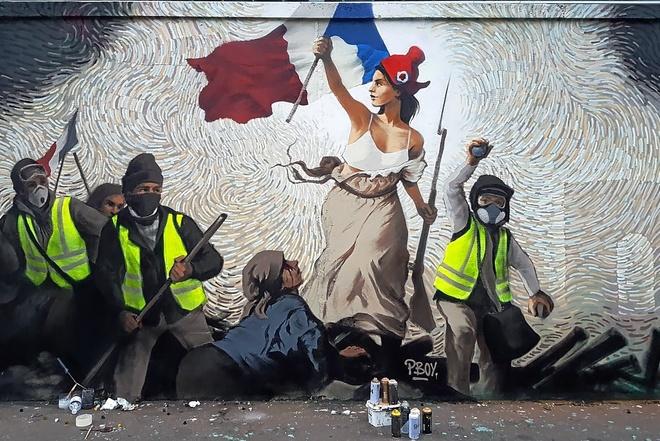'La Libertad guiando al pueblo'. PBOY