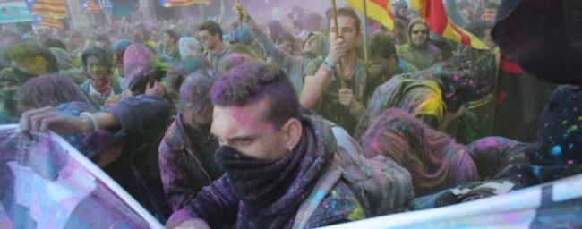 Concentración frente a la subdelegación del Gobierno en Girona en el...