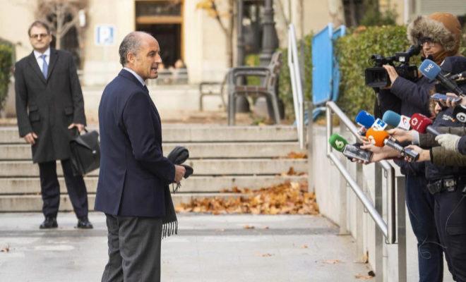 Francisco Camps, expresidente de la Generalitat de Valencia, entra a la Audiencia Nacional por el caso Gürtel
