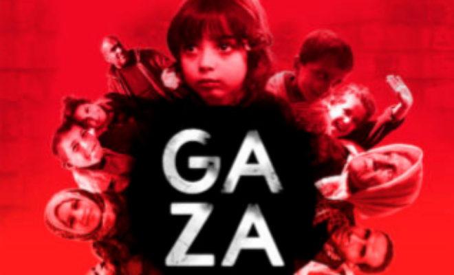 Cartel del corto documental Gaza, nominado a los Premios Goya.