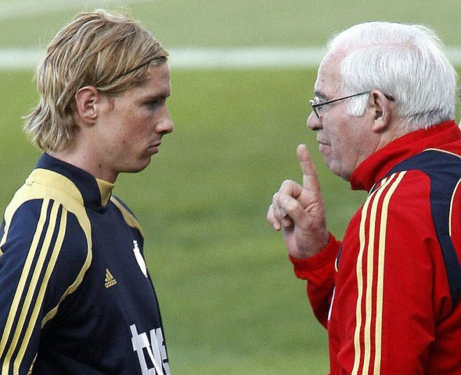 Fernando Torres y Luis Aragonés.