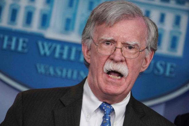 John Bolton comparece durante una rueda de prensa en la Casa Blanca.
